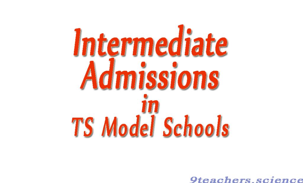 Telangana Model schools intermediate admissions